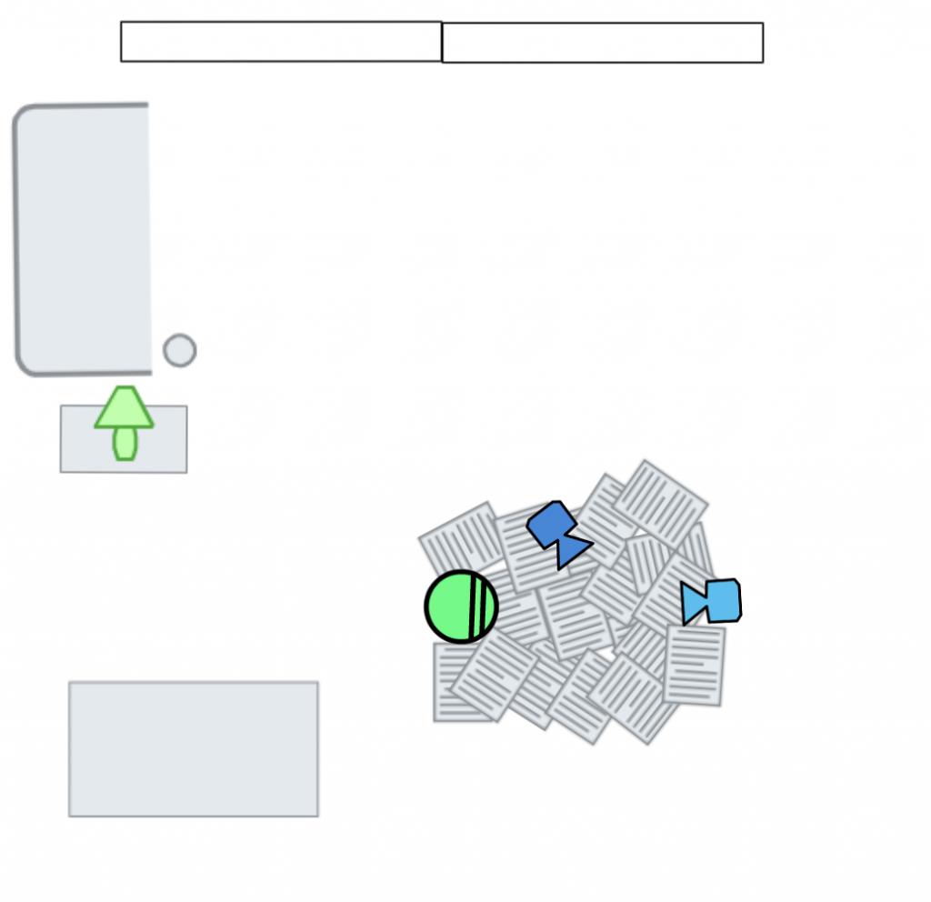Floor Plan Paper Scene